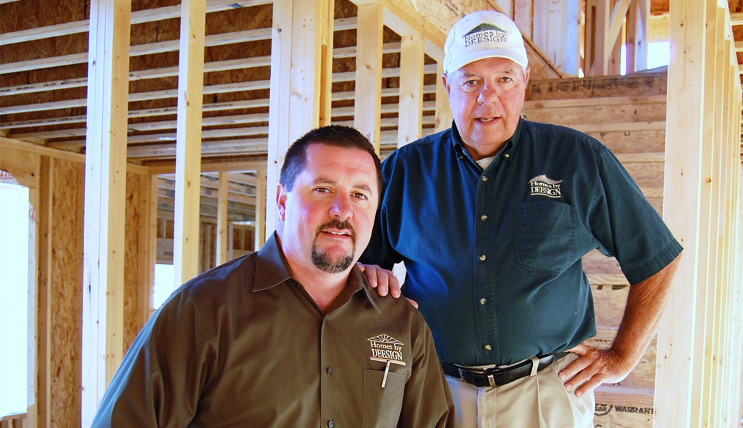 Bob Dee, Sr. and Bob Dee, Jr. of Homes by Deesign in Mascoutah, IL